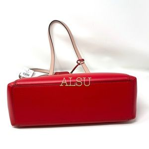kate spade Bags - Kate ♠️Spade Small Double Pocket Tote Magnolia Red